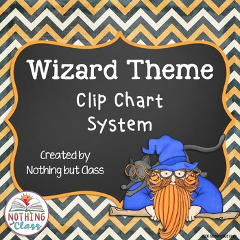 Clip Chart System with Reward Coupons: Wizard Theme