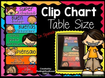 Clip Chart Table Size in Spanish