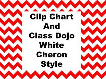 Clip Chart and Class Dojo - Chevron Style