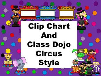 Clip Chart and Class Dojo - Circus Style