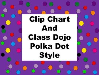 Clip Chart and Class Dojo - Polka Dot Style