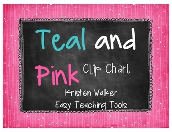 Clip Chart and Notes Home {Chalkboard, Teal, & Pink}