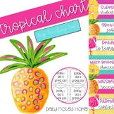 Editable Clip Chart and Notes Home {Pineapple}