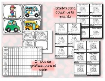 Gráfica  para Transportación en español - Transportation Clip Chart