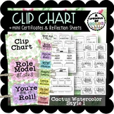 Clip Chart with Behavior Management Sheets - Cactus Waterc
