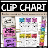 Clip Chart with Behavior Management Sheets - Farmhouse Style