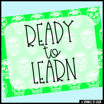 Clip Chart with Behavior Management Sheets - Sugar Skull Style