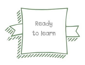 Classroom Management - Clip Chart with Homework and Behavior Log