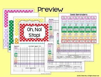 Clip Chart with Monthly Recording Sheets