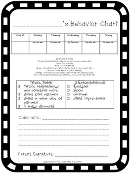 Clip Chart/Student Behavior Management (Chevron Theme)  Back To School