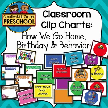 Clip Charts: How we get Home, Birthday, and Behavior