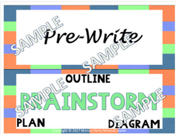 Clip Charts -  Morning Routines, Reading Groups, Writing Process PASTEL THEME