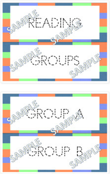 Clip Charts A -  Routines, Reading Groups, Writing Process Classroom Management