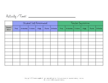 Behavior Clip Charts for Self Assessment of Learning and Emotions