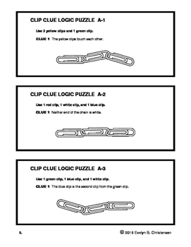 Clip Clue Logic Puzzles Level A