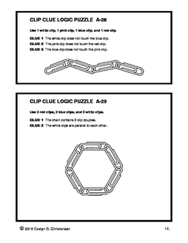 Clip Clue Logic Puzzles Level A Distance Learning