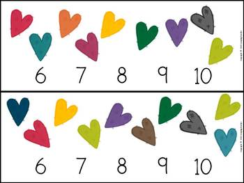 Clip Counting and Patterns Math Center Valentine's Day Theme