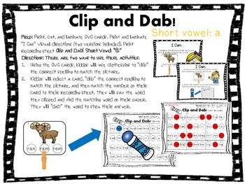 Clip & Dab! CVC Words {6 Interactive Games}