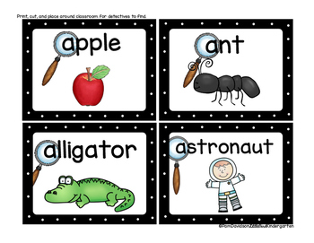 Clip & Find Letter Detective Literacy Center for Little Learners