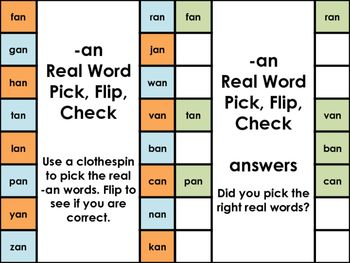 Clip & Flip Real & Nonsense Words