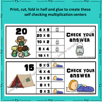 Multiplication Task Cards - Clip & Flip
