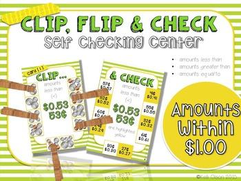 Clip, Flip, and Check Coin Amounts: Self-Checking Center