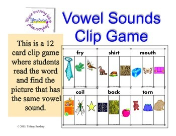 Clip Game for Vowel Sounds