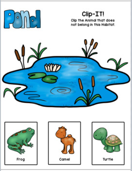 Animal Habitats: Clip-IT! I Don't Live Here (NGSS K-ESS3-1)