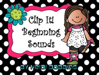 Clip It! A Beginning Sounds Activity