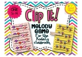 Clip It! A Melody Game For The Kodaly Classroom {Level One-Sol and Mi}