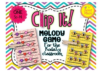 Clip It! A Melody Game For The Kodaly Classroom {Level One