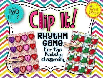 Clip It! A Rhythm Game for the Kodaly Classroom {Level Two- Rest/Ta-Rest}