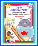 Clip It: Missing Addends (Addition Center)