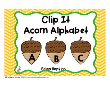 Clip It Acorn Alphabet