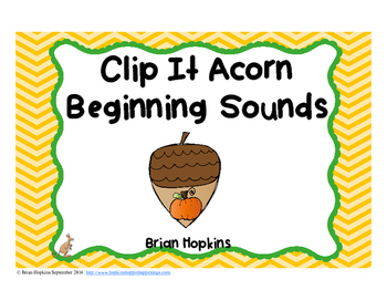 Clip It Acorn Beginning Sounds