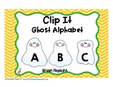 Clip It Alphabet Ghosts