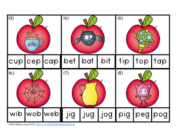Clip It Apple CVC Words