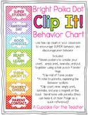 Clip It! Behavior Chart {Polka Dot}