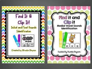 Clip It Bundle - Initial/Ending Sounds AND Medial Vowel Sounds