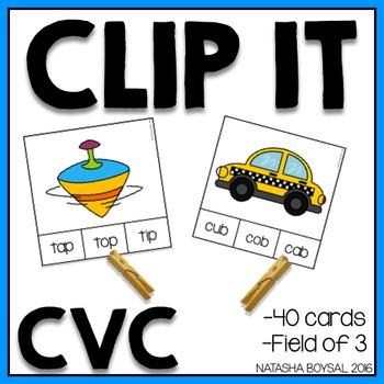 Clip It CVC (clothespin activity)