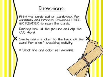 Clip It Cards CVC Words