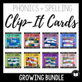Clip-It Cards for Phonics & Spelling - MEGA BUNDLE