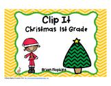 Clip It Christmas 1st Grade