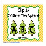 Clip It Christmas Trees Alphabet
