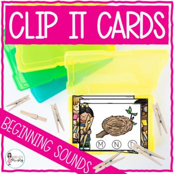 Clip It (Consonants & Vowels-Beginning Alphabet Sounds)