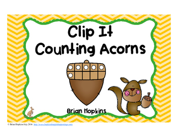 Clip It Counting Acorns