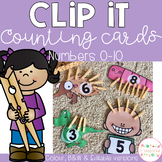 Clip It Counting Cards - Numbers 0-10