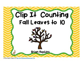 Clip It Counting Fall Leaves to 10