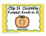 Clip It Counting Pumpkin Seeds to 10