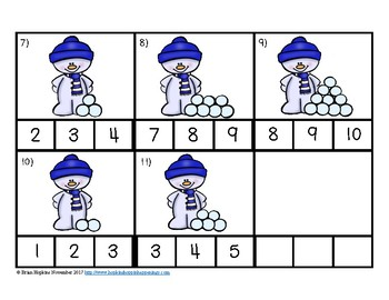 Clip It Counting Snowballs